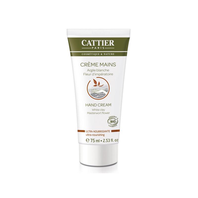Crème main Ultra-Nourrissante Argile blanche et Fleur d'impératoire bio Cattier