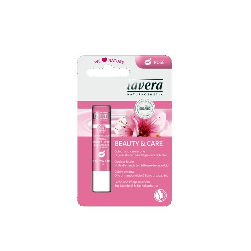 Baume à Lèvres Beauty et Care Rosé bio Lavera