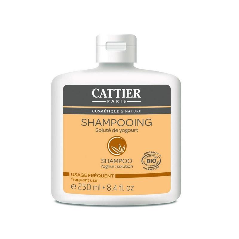 Shampooing soluté de yogourt bio usage fréquent Cattier