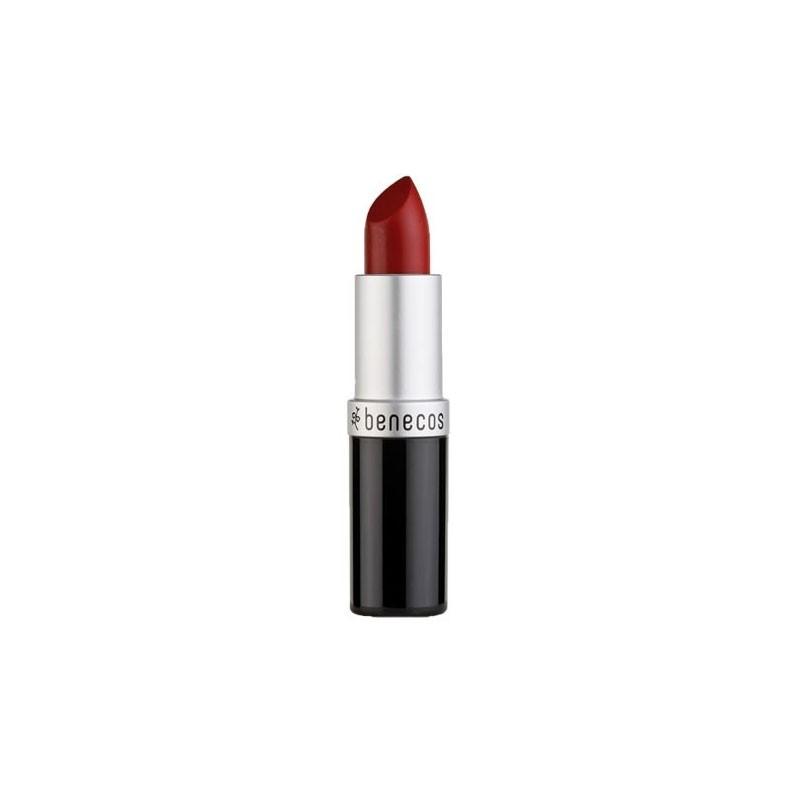 Rouge à lèvres rouge cerise catwalk bio Benecos