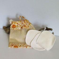 Filet de lavage birds orange coton bio