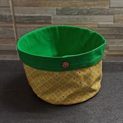Panier rond jaune et vert