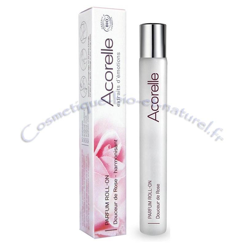 Eau parfum douceur de rose roll on 10 ml Acorelle