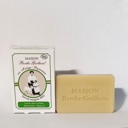 Savon bio au lait de chèvre olive et romarin Berthe Guilhem